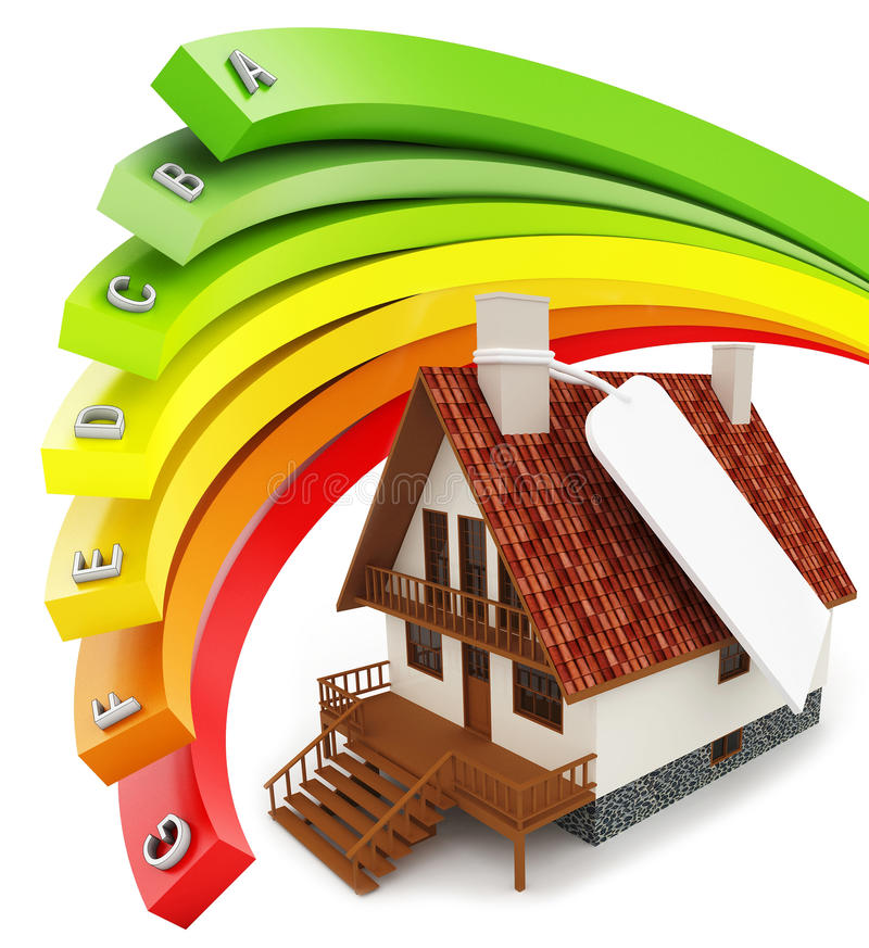 Download 3d House Energy Efficiency Concept Stock Illustration - Illustration of consumption, environmental: 30196789