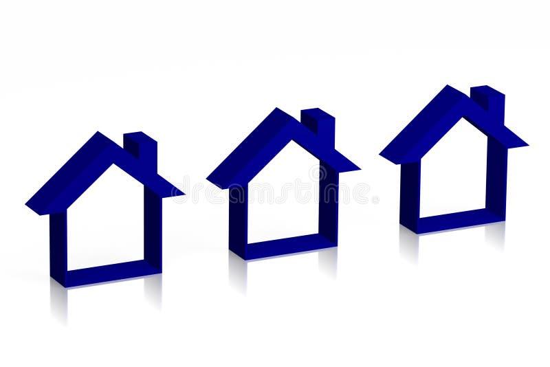 3D houses concept... stock illustration