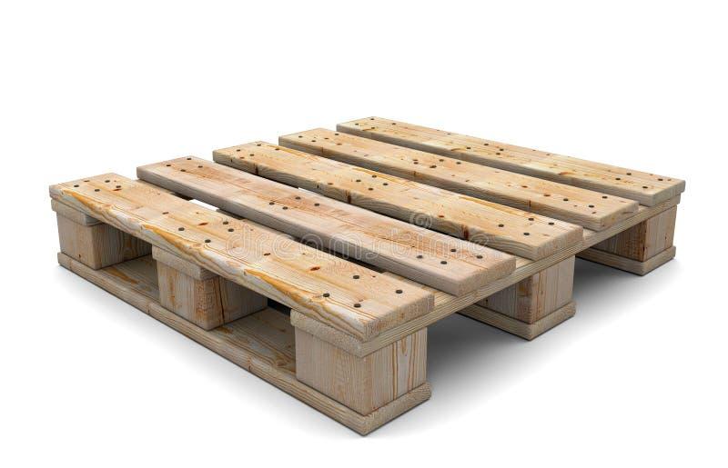 3d houten pallet stock illustratie