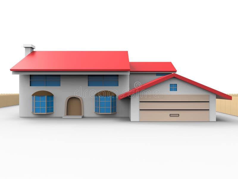 3d huisillustratie royalty-vrije illustratie