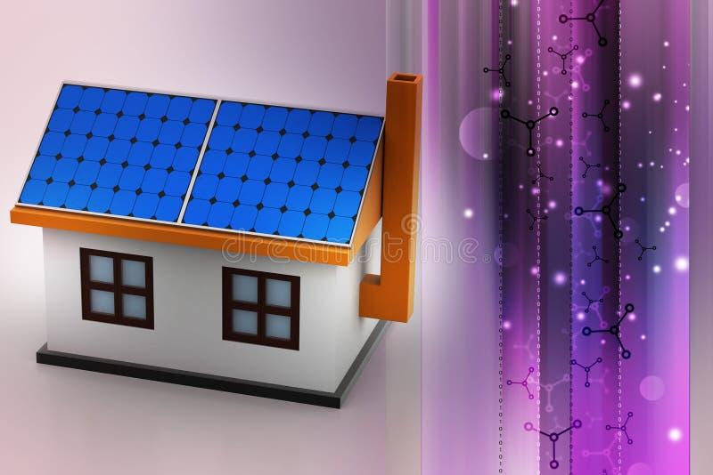 3d huismodel stock illustratie