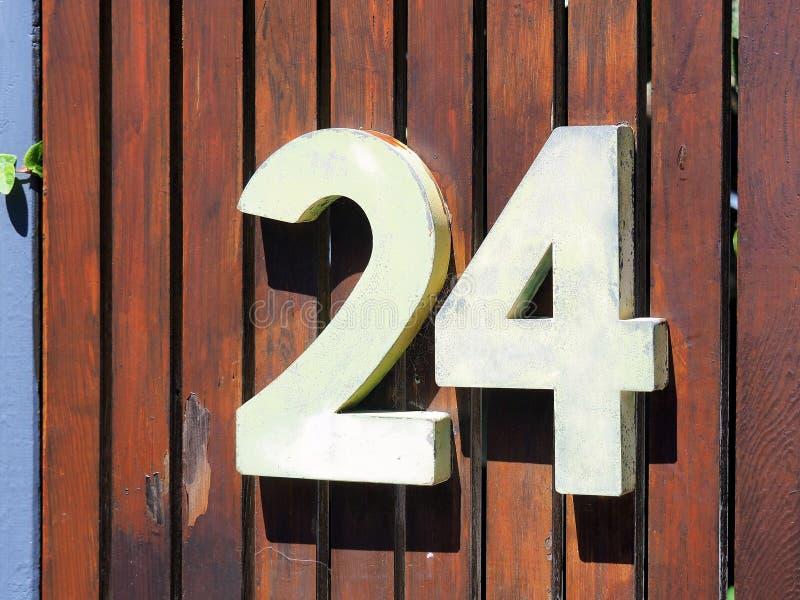 3D Huisnummer, Nr 24 royalty-vrije stock fotografie