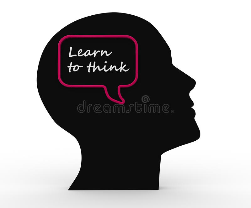 Download Learn to think stock illustration. Image of face, knowledge - 29783671