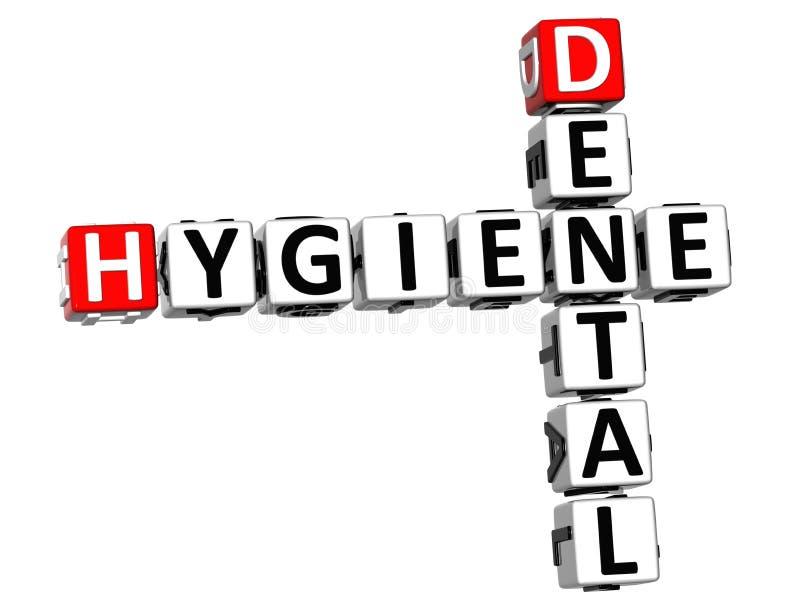 3D Hygiene Dental Crossword. On white background vector illustration