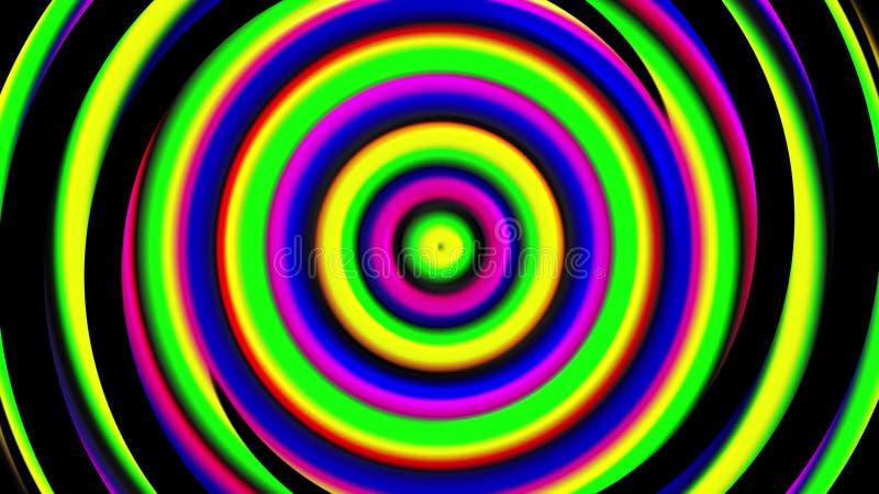 3d hypnotic spirals, swirling radial vortex background, computer generated art creative. 3d bright hypnotic spirals, swirling radial vortex background, computer royalty free illustration