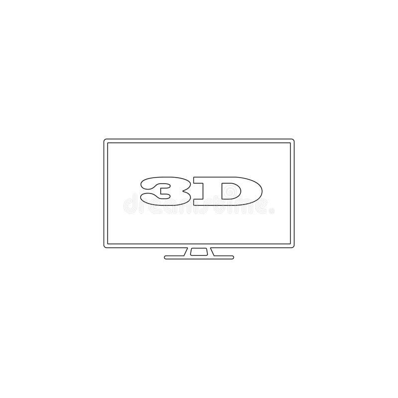 3d Ic?ne plate de vecteur illustration stock