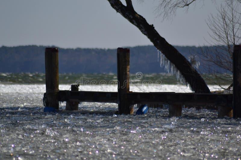 3 d ices zwiększenia wytapiania krajobrazu planety dziki obrazy stock