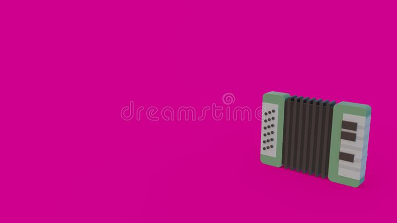 3d icon of accordion stock illustration
