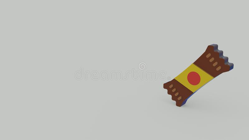 3d icon of candy royalty free illustration