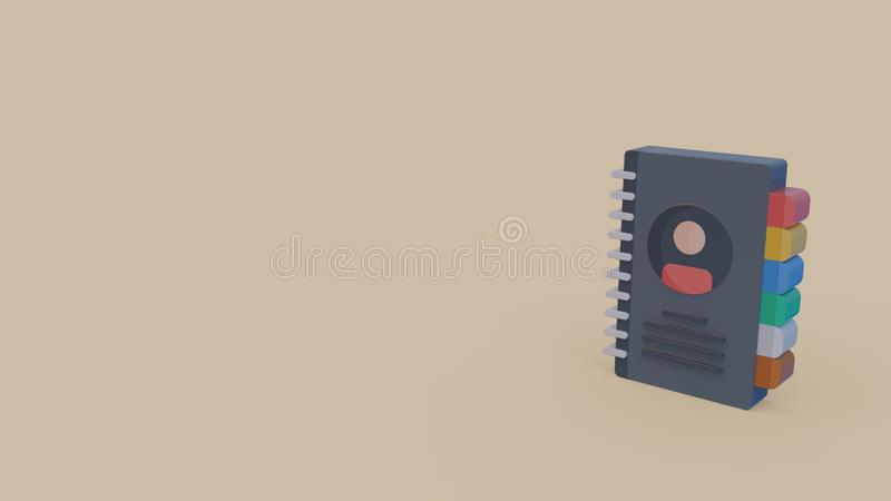 3d icon of diary royalty free illustration