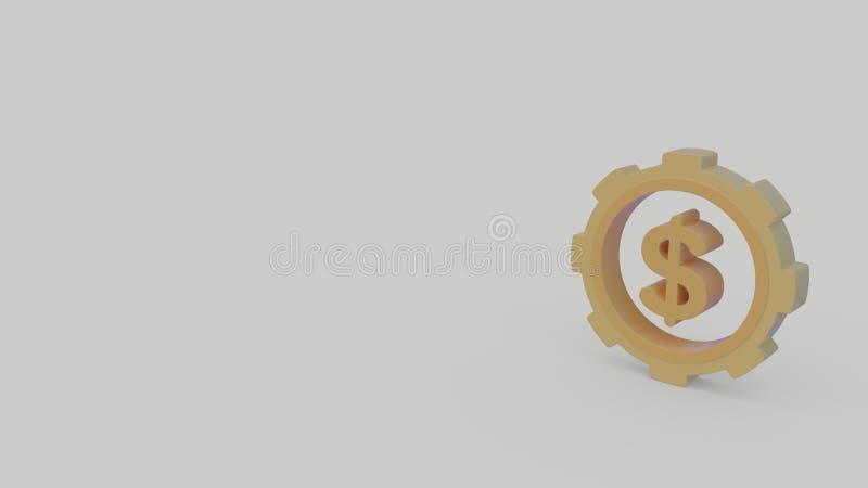 3d icon of dollar symbol royalty free illustration