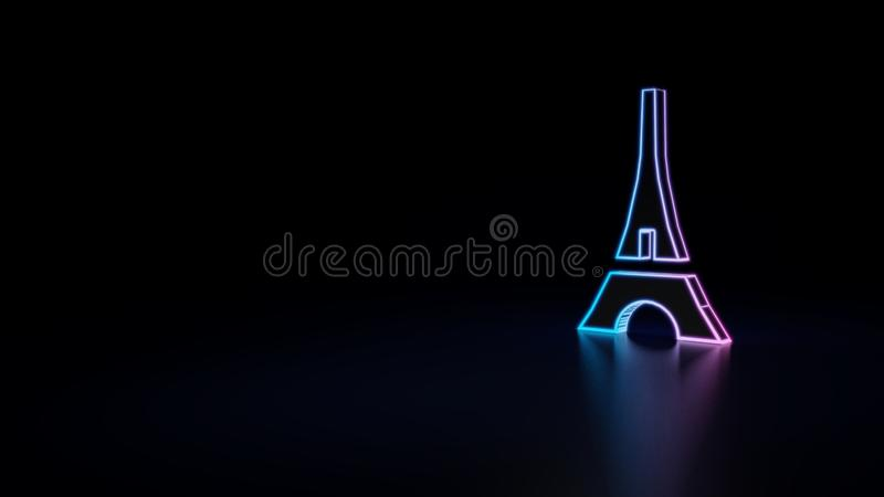 3d icon of eiffel tower vector illustration