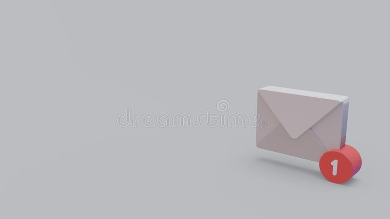 3d icon of incoming email royalty free illustration