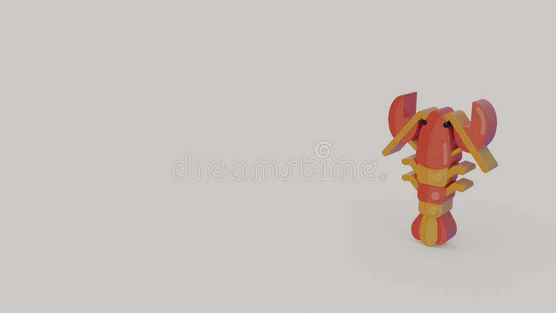 3d icon of lobster stock illustration