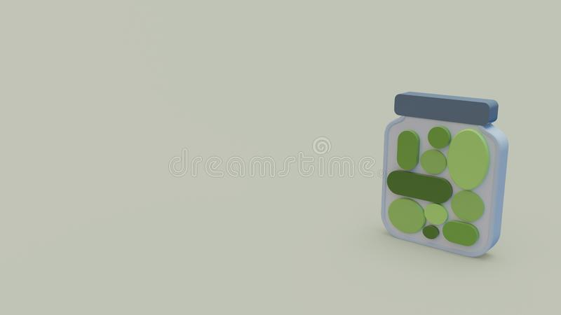 3d icon of pickles vector illustration
