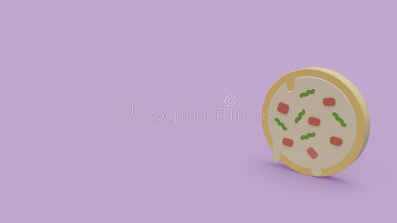 3d icon of pizza stock illustration