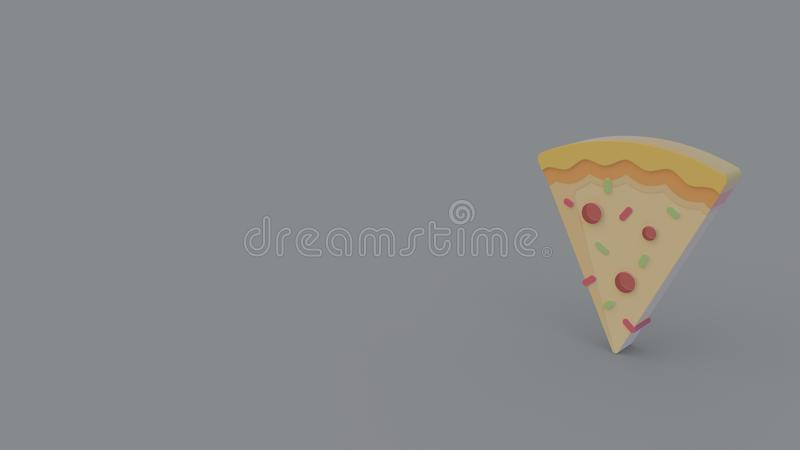 3d icon of pizza vector illustration