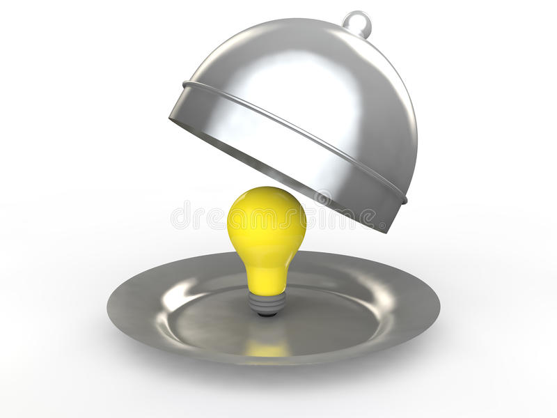 3d idea bulb in a dish royalty free stock images