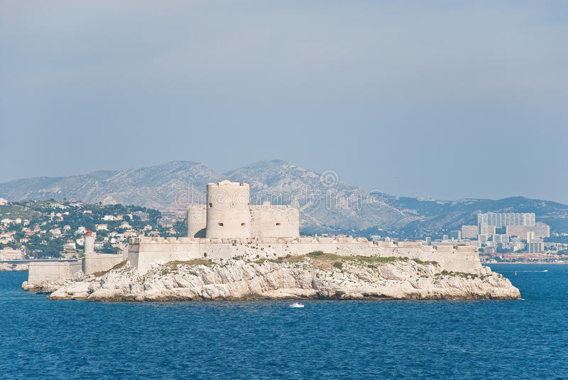 d'If del castillo francés, cerca de Marsella, Francia imagenes de archivo