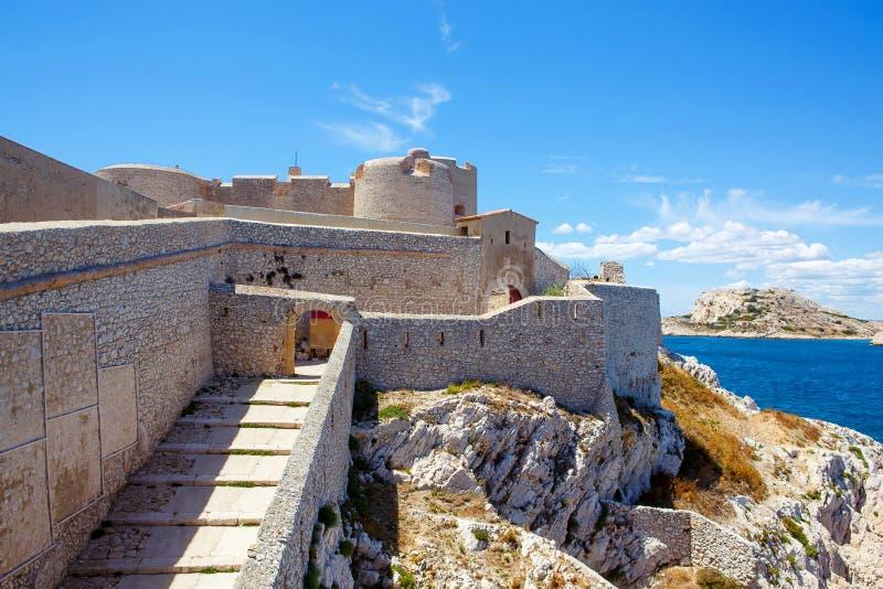 D'If do castelo do castelo, perto de Marselha França foto de stock royalty free