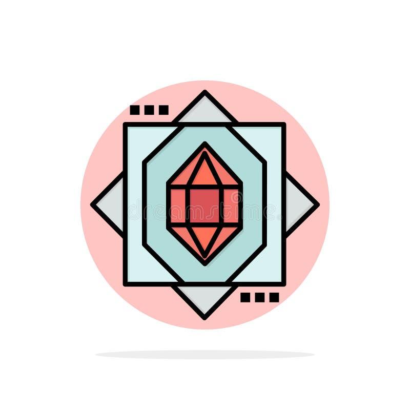 3d, il centro, formantesi, icona piana di colore del fondo astratto del cerchio di progettazione illustrazione di stock