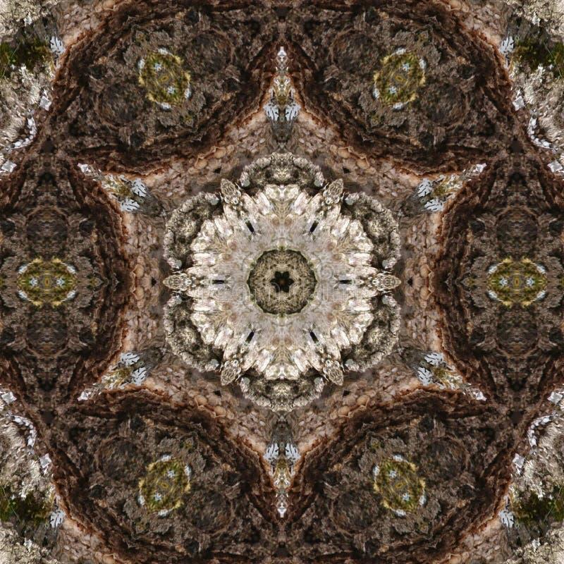 3D Illustratie Abstract beeld van een houten oppervlakte van een schors van een boom royalty-vrije illustratie