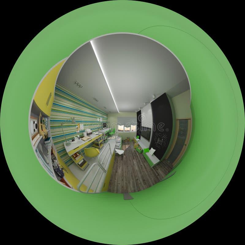 3d illustratie binnenlands ontwerp van kinderen` s ruimte vector illustratie