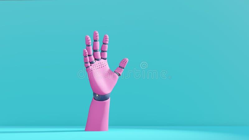 3D illustratie, de ledenpoplichaamsdeel van de robothand royalty-vrije stock foto's
