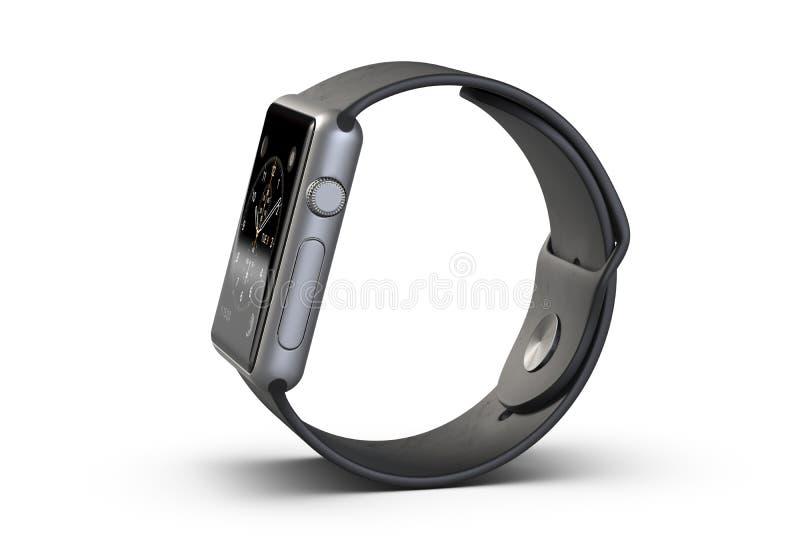3D illustratie Draadloos die Smart Watch op witte achtergrond wordt geïsoleerd vector illustratie