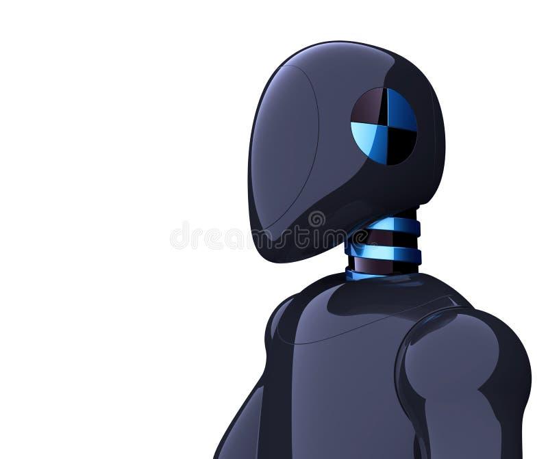 3d illustratie van androïde karakter van robot het futuristische zwarte cyborg vector illustratie