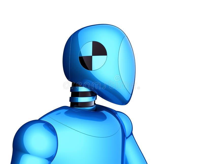 3d illustratie van blauwe bot van robot futuristische cyborg androïde technologie vector illustratie
