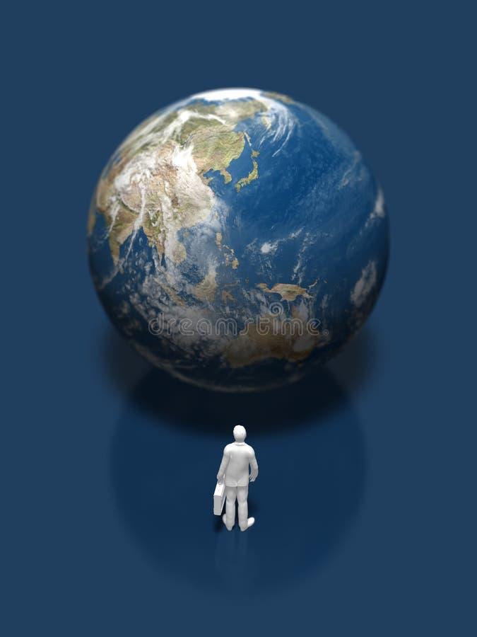 3D illustratie van de aarde stock illustratie