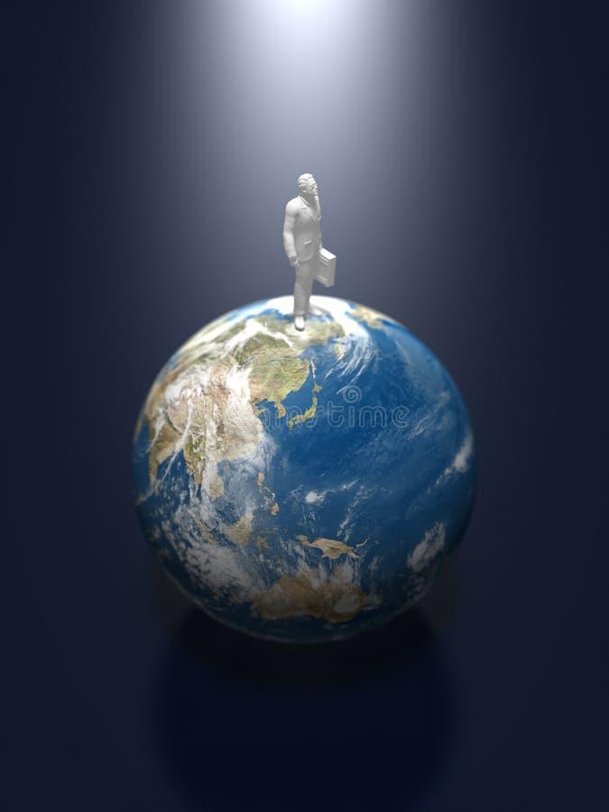 3D illustratie van de aarde vector illustratie
