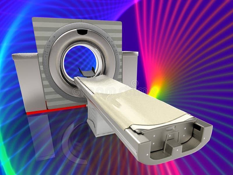 3d illustratie van de computer tomographic scanner royalty-vrije illustratie