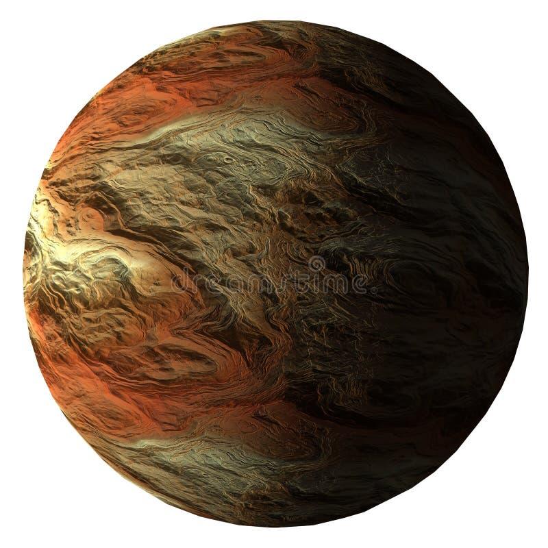 3d illustratie van de fantasieplaneet op witte achtergrond wordt geïsoleerd die vector illustratie