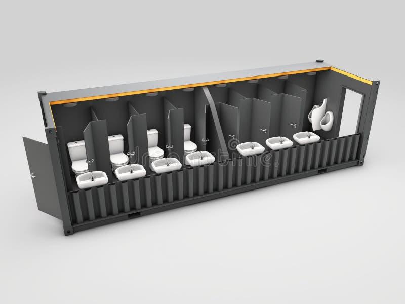 3d Illustratie van de geconverteerde oude container in wic-kabel, geïsoleerd wit vector illustratie
