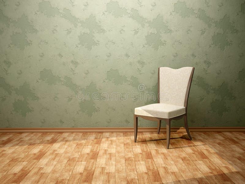 3d illustratie van de stoel in de ruimte met vector illustratie