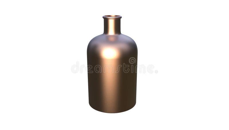 3d illustratie van decoratieve die fles op een witte achtergrond wordt geïsoleerd royalty-vrije illustratie