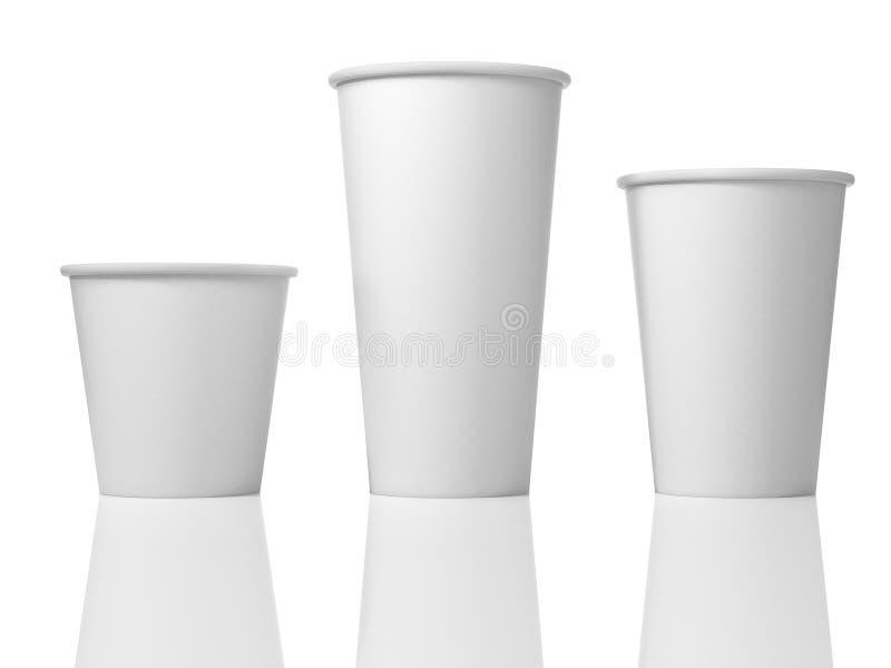 3D Illustratie van Drie Witboekkoppen vector illustratie