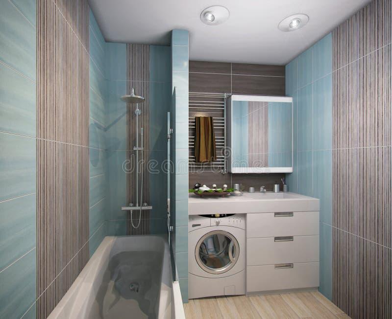 Download 3D Illustratie Van Een Badkamers In Turkooise Tonen Stock Illustratie - Illustratie bestaande uit badkamers, hygiëne: 54092556