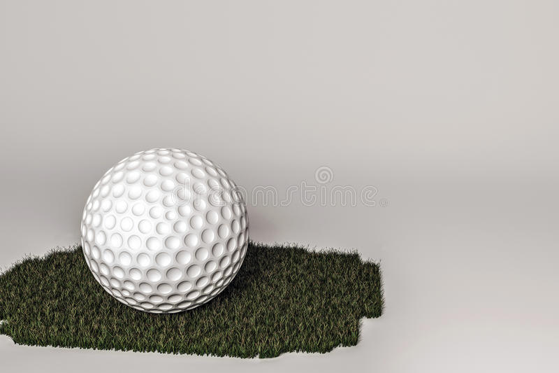 3d illustratie van een golfbal rendering vector illustratie