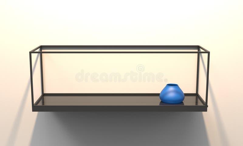 3D illustratie van een moderne drijvende plank vector illustratie