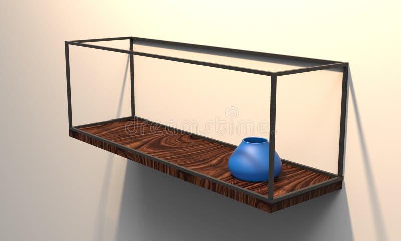 3D illustratie van een moderne drijvende plank royalty-vrije illustratie
