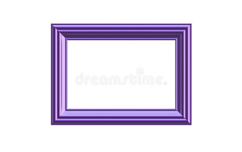 3d illustratie van een purpere geanodiseerde rechthoekige omlijsting die op witte achtergrond wordt geïsoleerd royalty-vrije illustratie