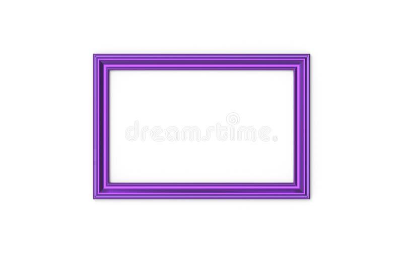 3d illustratie van een rechthoekige omlijsting op witte achtergrond royalty-vrije illustratie