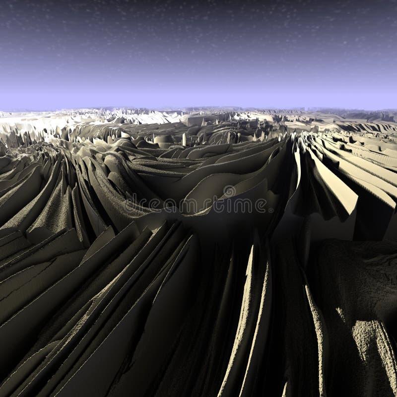 3D Illustratie van een surreal Landschap vector illustratie