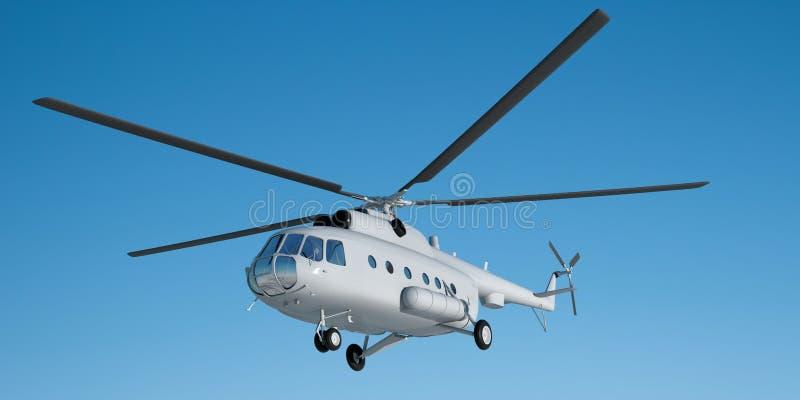 3d illustratie van helikopter Mi 8 Model vector illustratie