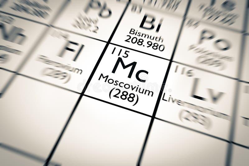 3D illustratie van het chemische element van Moscovium royalty-vrije illustratie