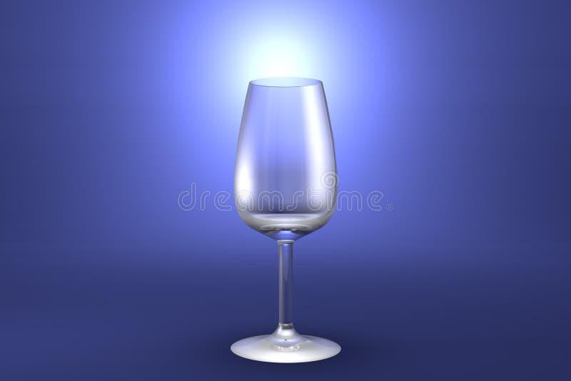 3D illustratie van het glas van de havenwijn op lichtblauwe benadrukte artistieke achtergrond - het drinken het glas geeft terug stock illustratie