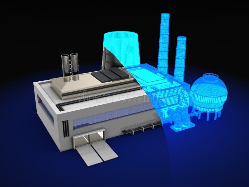 Het ontwerp van de fabriek stock illustratie